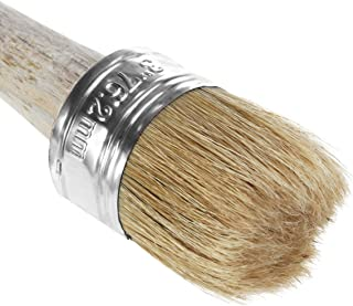 SUPVOX Wooden and Bristle Painting or Waxing Chalk Brush, 18.5 x 7.6 cm
