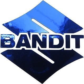 ! Suzuki Bandit S Blau Chrom Motorrad Aufkleber Aufkleber Grafiken X 2Stück