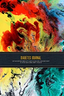 Diabetes Journal - Easy to Use Blood Sugar Logbook for Type 1 Diabetes (Glycemic Record / Blood Glucose Tracker) T1D - Art...