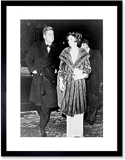Vintage Portrait John Kennedy Jackie JFK President Framed Art Print B12X12428