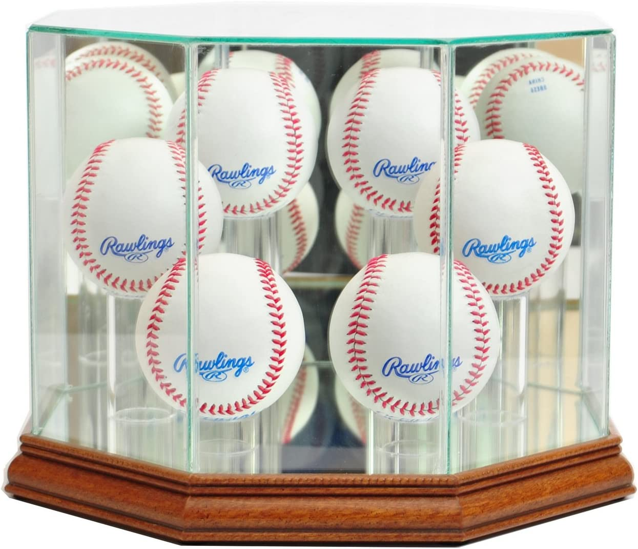 Perfect Cases MLB Soldering Octagon 6 Baseball Display Case Spring new work Glass