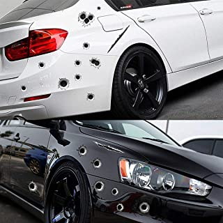 Barhunkft(TM) 3D Bullet Holes Car Sticker Scratch Decal Waterproof Motorcycle Stickers 21X30CM(Ranom Color)