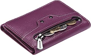 AINIMOER Small Leather Wallet for Women, Slim Compact Credit Card Holder RFID Blocking Wallets Organizer with Coin Pocket,...