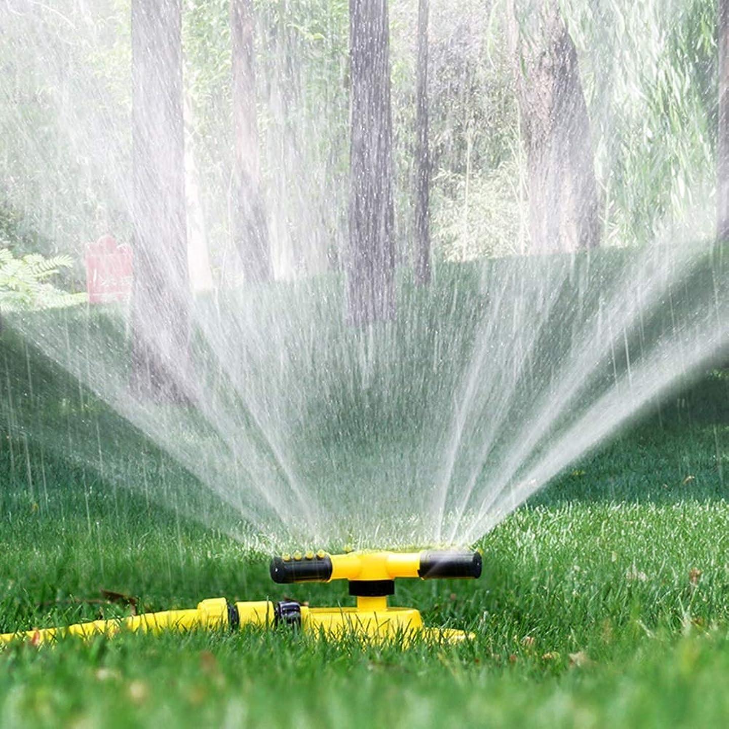 寄稿者どきどき硫黄ガーデンスプリンクラー、アップグレードローンスプリンクラー自動360°?草本散水用回転灌漑スプリンクラーシステム、黄色(サイズ:1/2