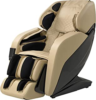 NEW 2020 BEST VALUED 3D ELITE L TRACK MULTIPLE HEATED ZERO GRAVITY MASSAGE CHAIR WITH CALF KNEADING (BEIGE)