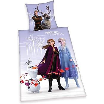Herding Disneys Die Eiskönigin 2 - Juego de Funda nórdica y Funda de Almohada (135 x 200 cm y 80 x 80 cm, algodón), diseño de Frozen: Amazon.es: Hogar