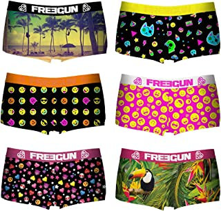 986bba0ed770a FREEGUN Lot de 6 Culottes Boxers Shortie Fille 🌼