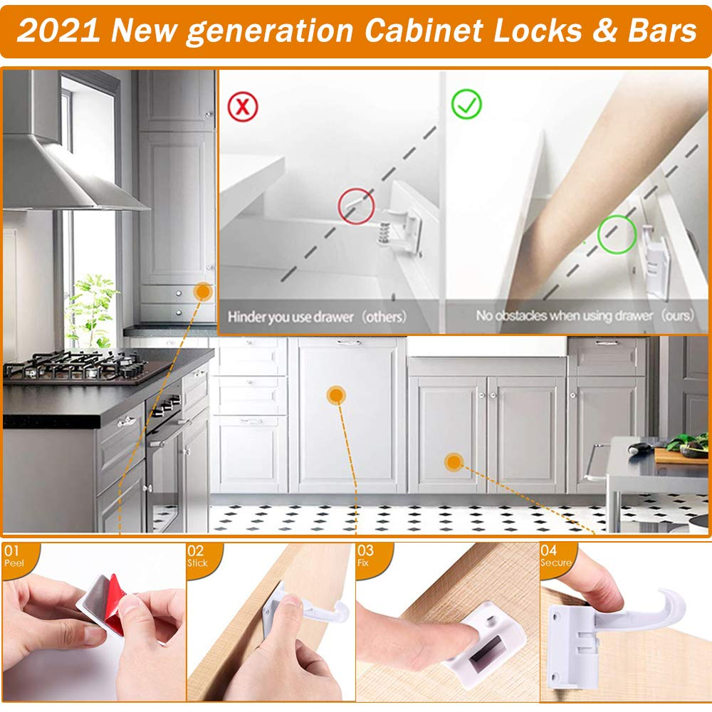 Baby Safety Kit, 58 Packs Baby Proofing Essentials Kit Various Child Safety Appliance with Cabinet Locks, Corner Guards and Outlet Covers - All-in-one Super Value Child Safety Kit