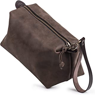 Leather Pouch by Kruk Garage Leather travel pouch Necessairies bag Dopp kit Toiletry bag Mens bag Groomsmen bag Leather travel bag