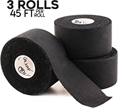 Black Medical Athletic Tape | 45ft Uncut Medical Roll | Best Pain Relief Adhesive for Muscles, Shin Splints, Knees & Shoulders | 24/7 Waterproof Therapeutic Aid