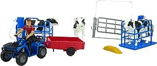 Juego de Animales y Accesorios de Newray Farm con cuádruple Azul, Ganado y cercas - Edad 3+