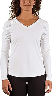 Vapor Apparel Women's V-Neck UPF 50+ Sun Protection Performance Long Sleeve T-Shirt