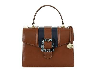 Brahmin Mini Francine Portico Satchel (Whiskey) Handbags