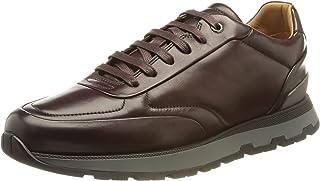 BOSS Herren Arigon Runn In Italien gefertigte Sneakers aus poliertem Leder mit Monogramm-Sohle Größe
