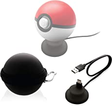 Nyko Charge Base Plus - USB Type-C Charging Dock and Carrying Case for Poké Ball Plus Nintendo Switch Controller