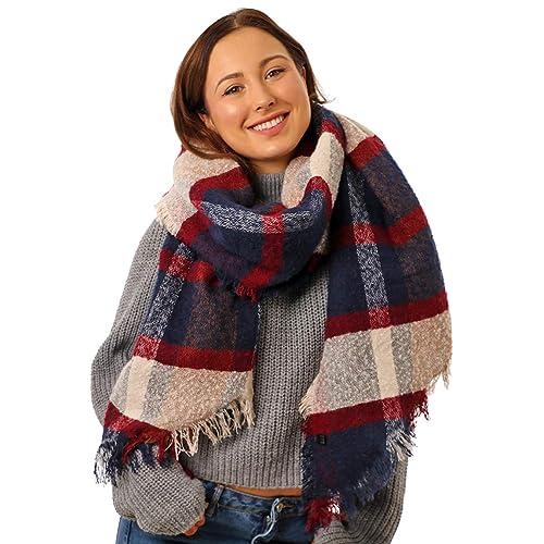 a0c539c0fe401 STYLE SLICE Super Soft Thick Warm Women Blanket Scarf for Winter - Plaid  Tartan Scarf Ladies