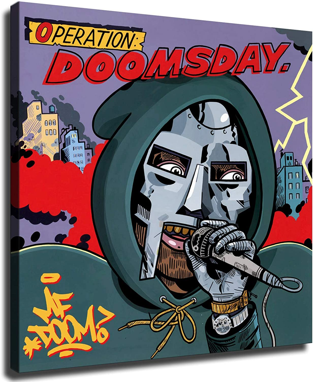 Ranking TOP14 Hip-hop singer New Orleans Mall MF Doom canvas poster Face Dumile wa Daniel Metal