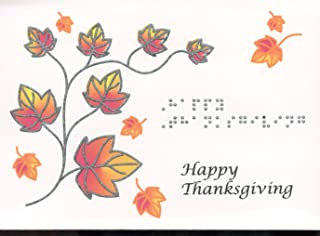 Braille and Tactile Greeting Card:: Happy Thanksgiving, Autumn Branch