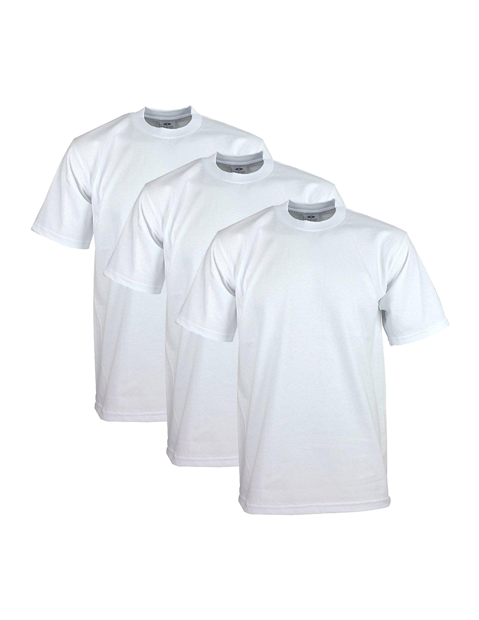 Pro Club Men's 3-Pack Heavyweight Cotton Short Sleeve Crew Neck T-Shirt