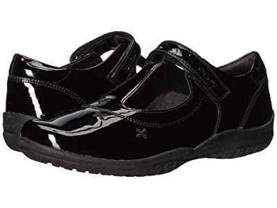 Geox Kids Jr Shadow 50 (Big Kid) (Black Oxford) Girls Shoes