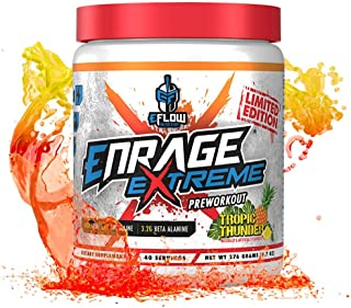 eFlow Nutrition Enrage Extreme High Stimulant Pre Workout Supplement - Pre Workout Powder to Boost Energy, Pumps and Stren...