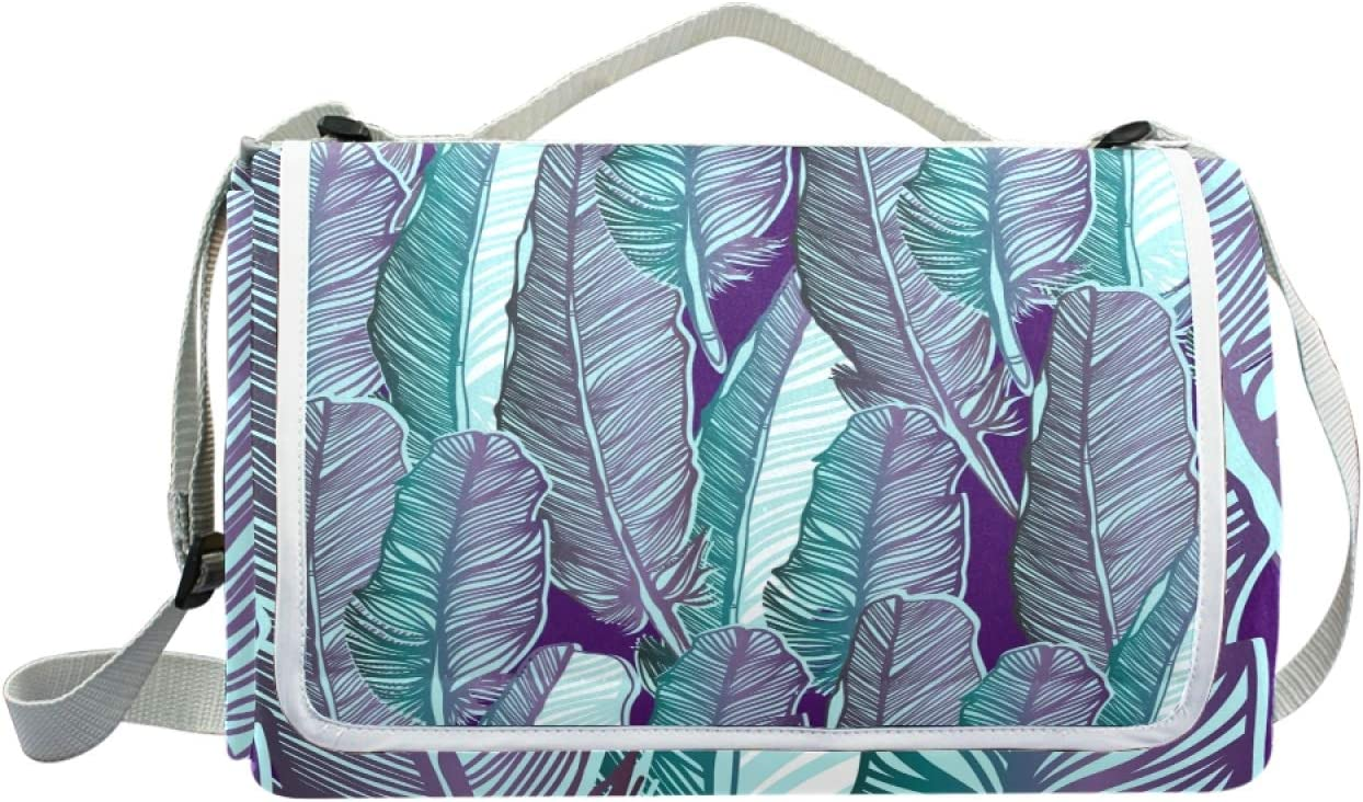 HYFA Palm Leaf Feather Picnic New product! New type Outdoor Seasonal Wrap Introduction Mat Park Blanket Beach B