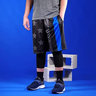 Tactical Thin Blue Line USA Flag Shorts