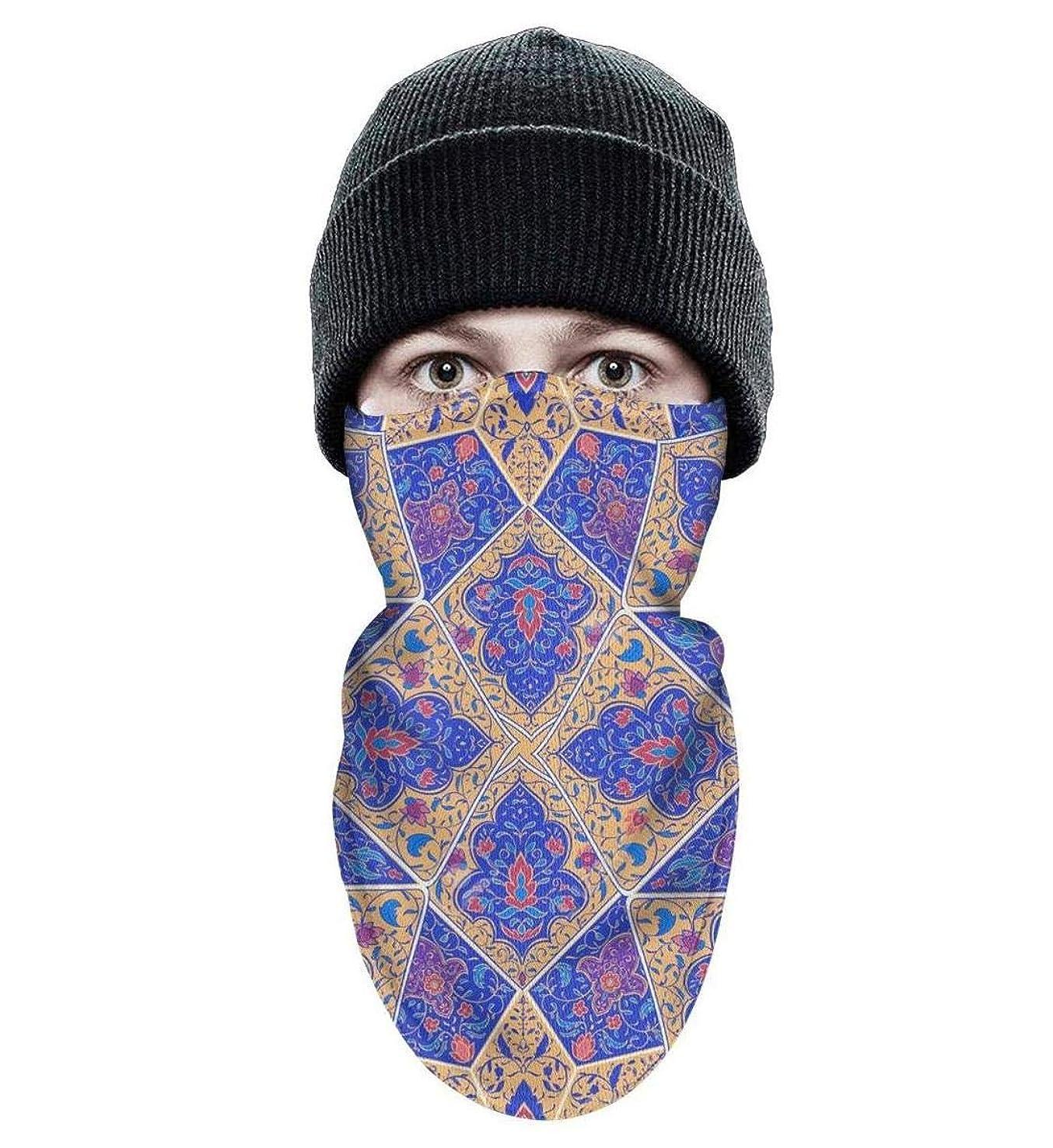 Adult Ski face Mask Winter Moutdoor skining Ski Face Mask Warm Fleece Light Winter Bandanas Face Mask Byzantine Moroccan Circular Mosaic