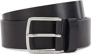 BOSS Mens Sjeeko Sz40 Pin-buckle belt in vegetable-tanned Italian leather
