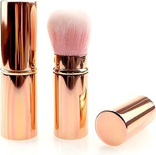Make up Brush Retractable Rosegold/Gradient/Black/Pink Blush Brushes Soft Mineral Foundation Powder Brushes (rosegold)