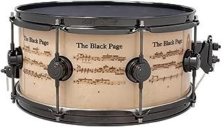 DW Terry Bozzio Black Page ICON Snare Drum