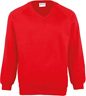123t Maddins MD02M Coloursure v-Neck Sweatshirt Blank Plain