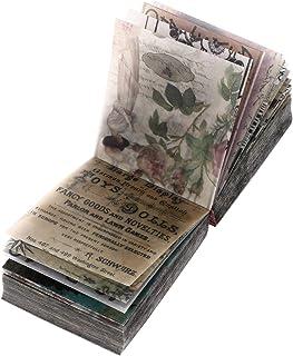 EXCEART 365 Feuilles Vintage Scrapbooking Matériel Papier Floral Plante Feuille De Lettre pour DIY Art Projet Journal Plan...