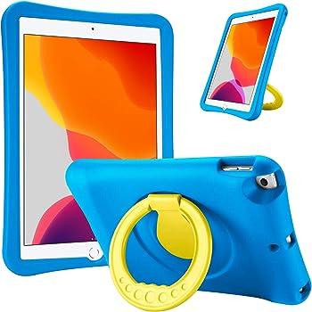 ProCase Custodia Bambini per iPad 10.2 2020/2019 7a/8a Gen/iPad Pro 10.5 2017/ iPad Air 3 2019, Rigida Custodia Antiurto per Bambini con Cavalletto Girevole a 360 Gradi –Blu