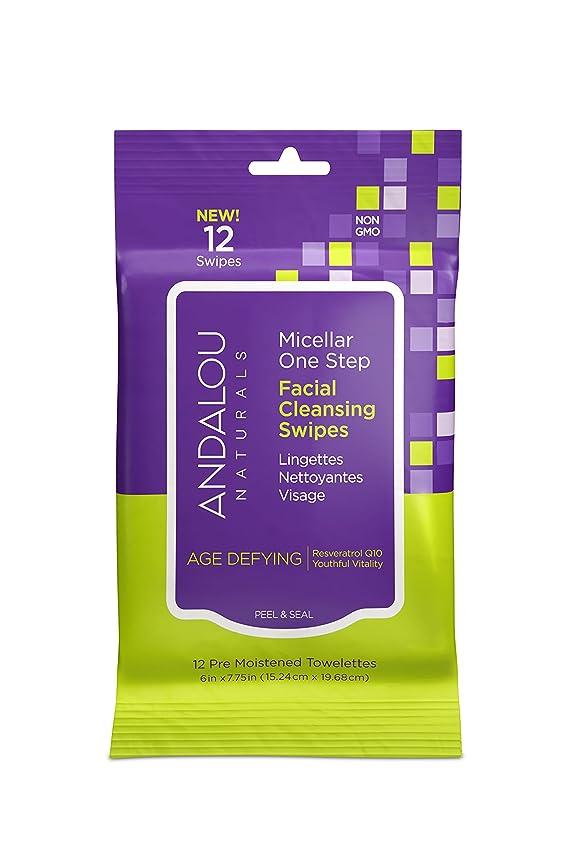 シプリー宙返り魅力オーガニック ボタニカル クレンジングシート 洗顔シート ナチュラル フルーツ幹細胞 「 Aミセラスワイプ 12枚入り 」 ANDALOU naturals アンダルー ナチュラルズ