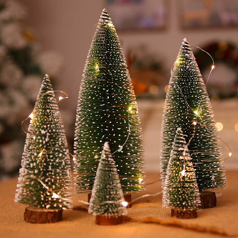 彼ら葉を拾う締めるクリスマスツリー 卓上 ミニ クリスマステーブル 装飾 可愛い クリスマス 飾り オーナメント 玄関 パーティー 小物置物 5点入 (5点)