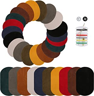 Naler 30 Pieces Iron on Patches Fabric Patches Elbow Knee Patches for Clothing Jacket Cotton Jeans Repair Kit Art Craft Decoration Ornaments, 10 Colors
