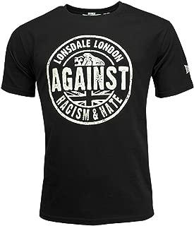 Lonsdale Men´s Regular Fit Black Against Racism & Hate T-Shirt