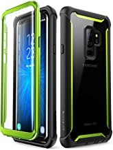 i-Blason Case for Galaxy S9+ Plus 2018 Release, [Ares] Full-Body Rugged Clear Bumper Case with Built-in Screen Protector (Green)