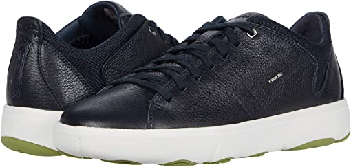 Navy Tumbled Leather