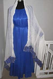 Ethiopian Traditional Dress-Chiffon-Blue-D-LS