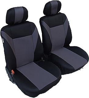 2x Vordere Grau Auto Sitzbezüge Polyester Schonbezüge Neu OVP Hochwertig