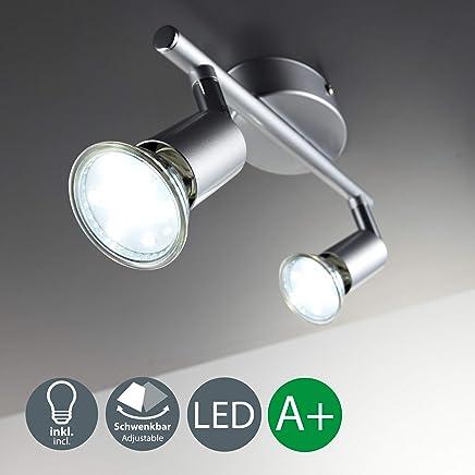 LED Deckenleuchte Schwenkbar Inkl. 2 x 3W 250lm Leuchtmittel GU10 LED Deckenlampe LED Deckenstrahler