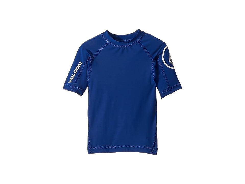 Volcom Kids Lido Solid Short Sleeve Rashguard (Toddler/Little Kids) (Camper Blue) Boy