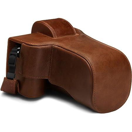 Megagear Ever Ready Mg1816 Kameratasche Aus Echtleder Kompatibel Mit Nikon Z50 50 250 Mm Braun Elektronik