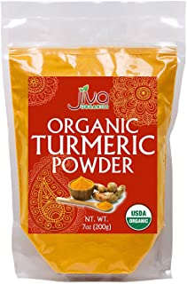 Jiva USDA Organic Turmeric Powder (Curcumin) 7oz - Packaged in Resealable Bag