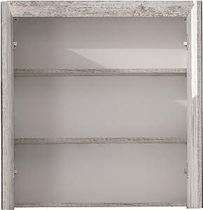 trendteam smart living Mobili, Derivato del Legno, Bianco Decorativo, 72 x 79 x 23 cm