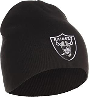 Reebok Oakland Raiders Uncuffed Embroidered Logo Winter Knit