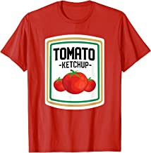Tomato Ketchup Couples And Group Halloween Matching Costumes T-Shirt