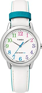 Timex Womens Quartz Watch, Analog Display And Leather Strap - TW2T28800